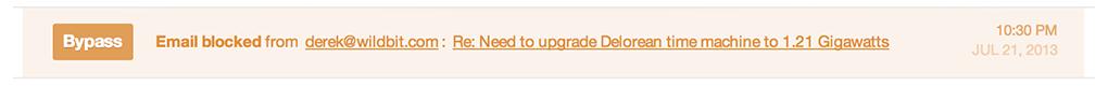 Bypass a blocked message