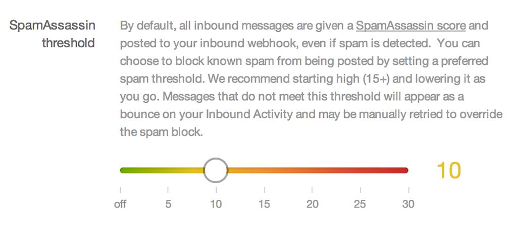 SpamAssassin Threshold