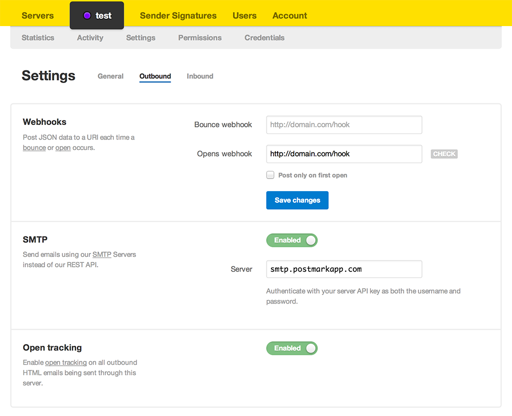 Server settings redesign